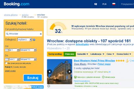 Booking.com. Hotele i pensjonaty we Wrocławiu